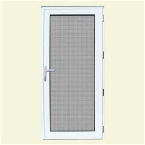 Outswing Door Security by Unique Home Designs 36 In X 80 In White Recessed Mount
