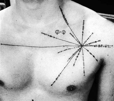 pulsar map tattoo 50 pulsar map designs for pioneer plaque ink