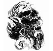 Image Gallery Hand Gun Skull Tattoo
