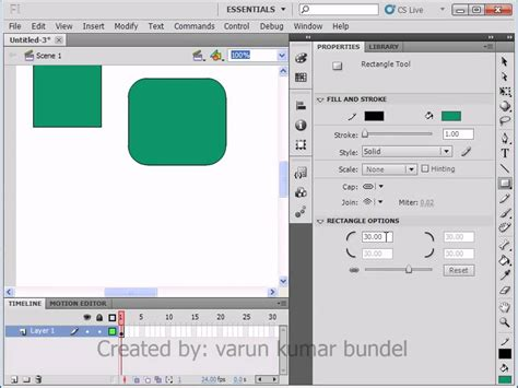 flash tutorial in hindi lesson 04 basic shapes in flash cs5 part 02 adobe flash
