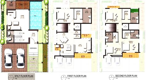 new house design with floor plan modern small house floor plan