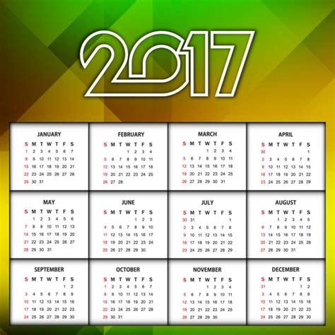 Calendario Moderno Calendario Moderno De 2017 Descargar Vectores Gratis