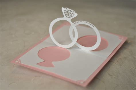 Wedding Invitation Linked Rings Pop Up Card Template by Wedding Invitation Pop Up Card Linked Rings Creative