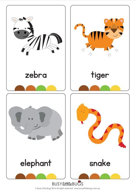 printable animal cards free our set of printable quot jungle animal flash cards quot are a