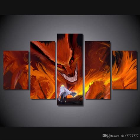 Anime 5 Canvas by 2019 New Anime Paintings On Canvas Modular Printed