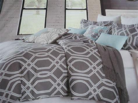 max studio gray white modern 3 pc duvet cover set