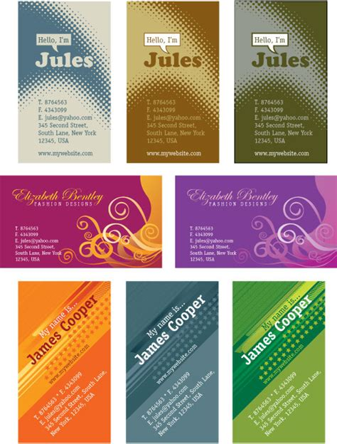 templates business cards illustrator free illustrator templates personal business cards