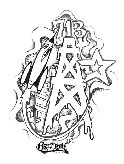 h town tattoo designs htown tattoos jose aka rec by txrec on deviantart