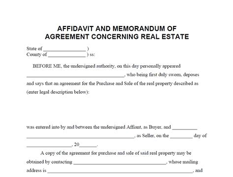 commercial affidavit of template sle real estate consulting agreement template real