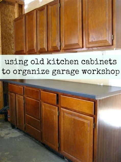 how to hang garage cabinets how to install old kitchen cabinets in garage workshop