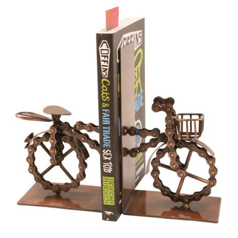5 Fabulous Chain Items To Own by Fab Fair Bike Chain Bicycle Bookends Beautiful Goods