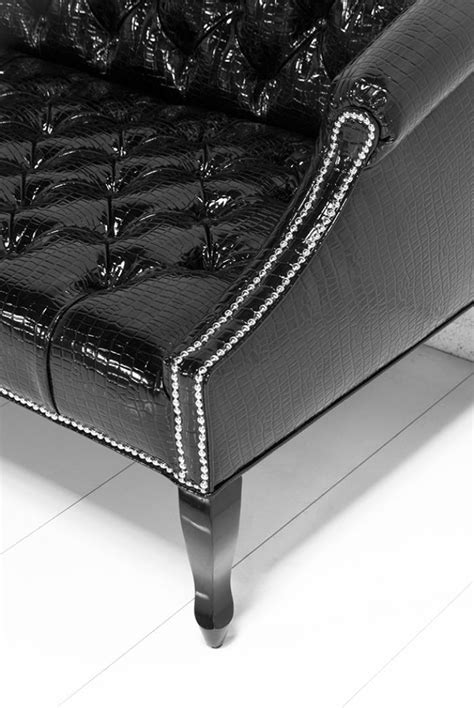 Patent Leather Sofa by Www Roomservicestore Mademoiselle Sofa In Faux Black