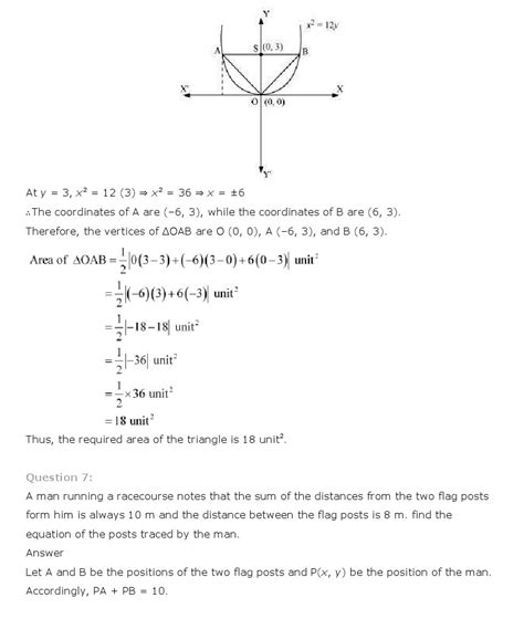 Conic Sections Class 11 by Ncert Solutions For Class 11 Maths Solutions Ch 11 Conic Sections