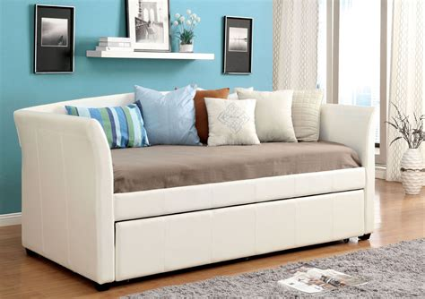 daybeds and futons delmar white twin trundle daybed day beds and futons