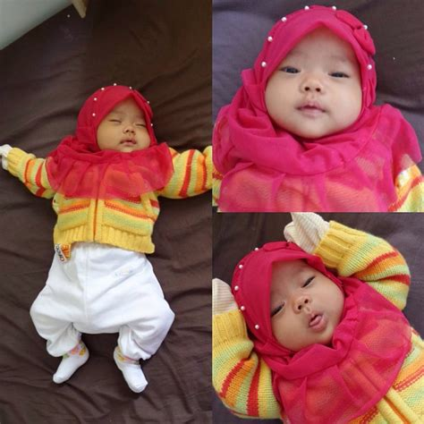 Jilbab Bayi Jilbab Anak Syiria Bunga Dua Kerudung Bayi Imut makin menggemaskan saat berhijab 5 anak artis cantik ini