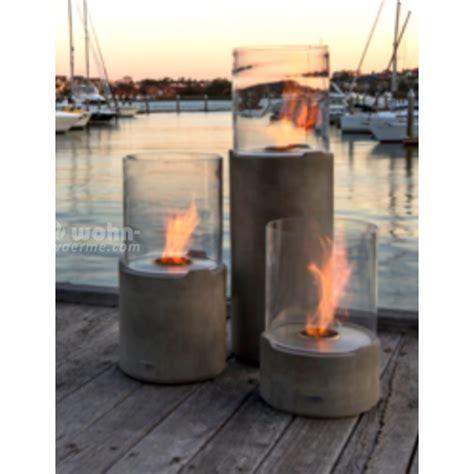 bilder outdoor kã chen outdoor ethanolkamin ecosmart lighthouse mit betonsockel