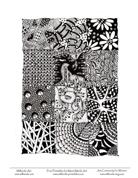 doodle fill free zentangle jr high scpa