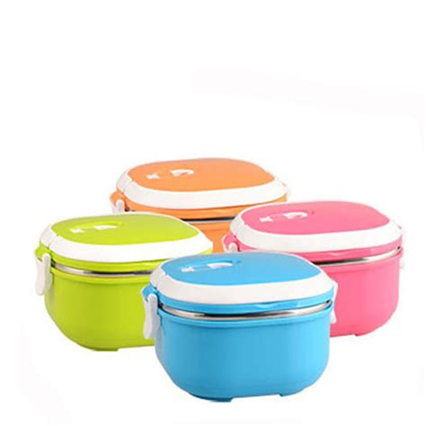 Lunch Cooler Box Terbaru Korean Style 2016 new korean stainless steel square meal lunch box