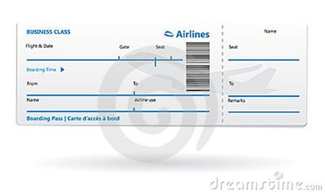 Airline Boarding Pass Blank Stock Photo Image 16670310 Airline Boarding Pass Template