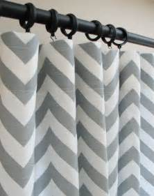 chevron style curtains items similar to pair of decorative designer custom