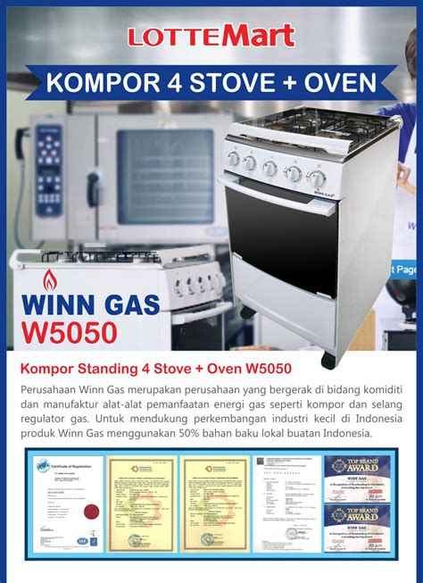 Kompor Gas Oven Winn Gas buy winn gas kompor standing 4 stove oven w 5050 deals for