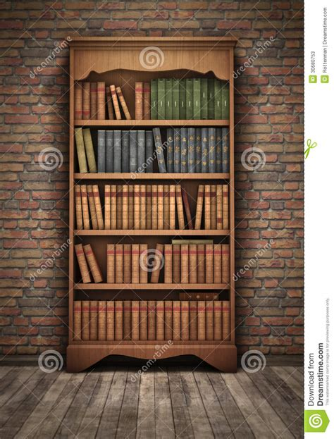 bookshelf in room stock illustration illustration of