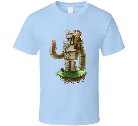 golem on t shirt iron golem minecraft inspired t shirt