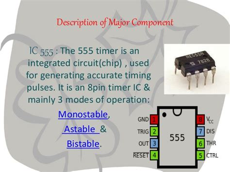 555 timer integrated circuit chip l8