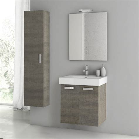 Bathroom Vanities With Storage Modern 22 Inch Cubical Vanity Set With Storage Cabinet Glossy White Zuri Furniture
