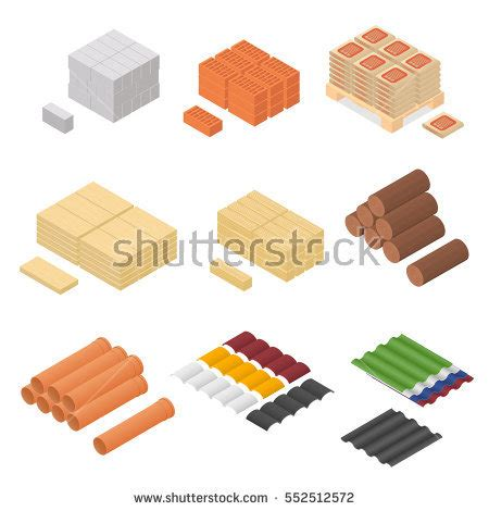 renovation brochure design vector material over millions 3d isometric farm buildings icons colored stock vector