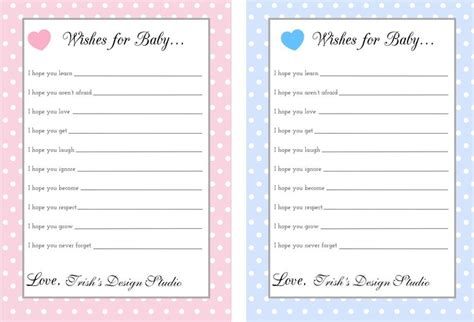 wishes for baby shower printable love the wishes for