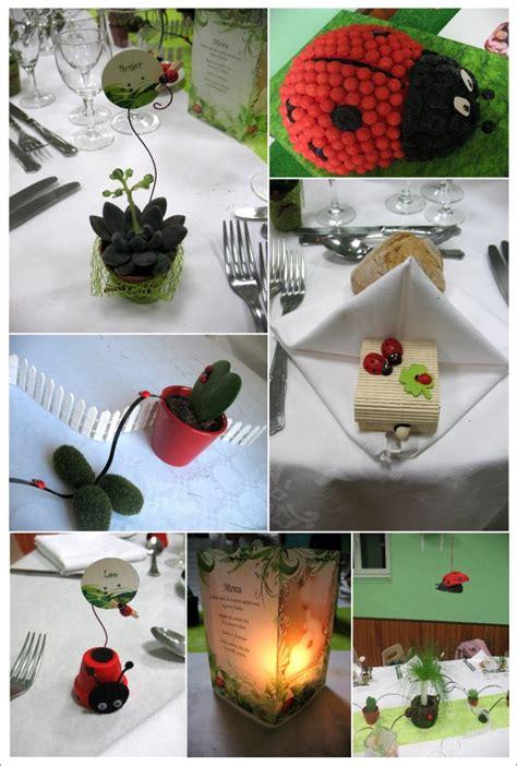 deco table coccinelle decoration bapteme th 232 me coccinelle