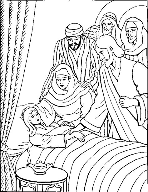 Jairus Daughter Coloring Page Coloring Pages Jairus Coloring Page