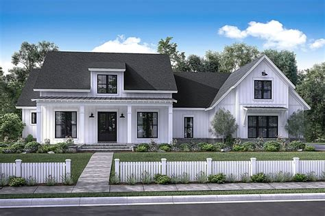 modern farmhouse elevations 4 bedrm 2686 sq ft country house plan 142 1169 house