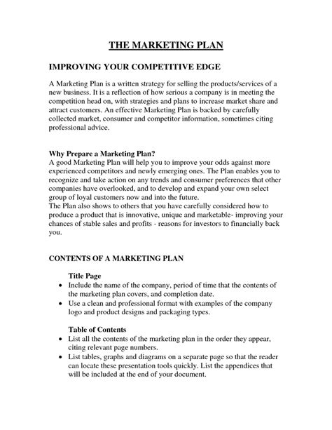 Marketing Plan Exles Network Jungle New Business Marketing Plan Template