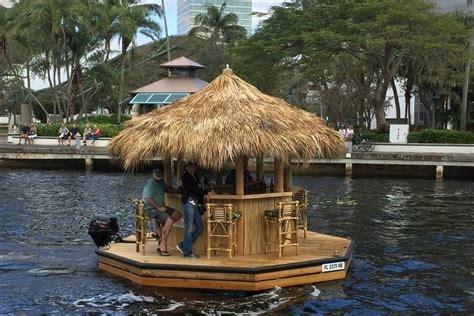 Motorized Tiki Bar Cruisin Tiki Boat