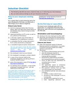 Induction Checklist Template For New Employees by Checklist Template 19 Free Word Excel Pdf Documents