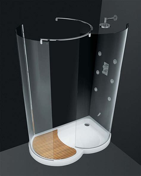Cesana Shower Doors Walk In Shower By Cesana Eclisse Curved Shower Enclosures With Walk In Area