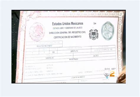Mexico Birth Certificate Records Immigration Bill Jobless Claims Mexico Birth Certificate