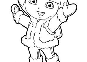 dora winter coloring pages dora coloring pages coloring4free com
