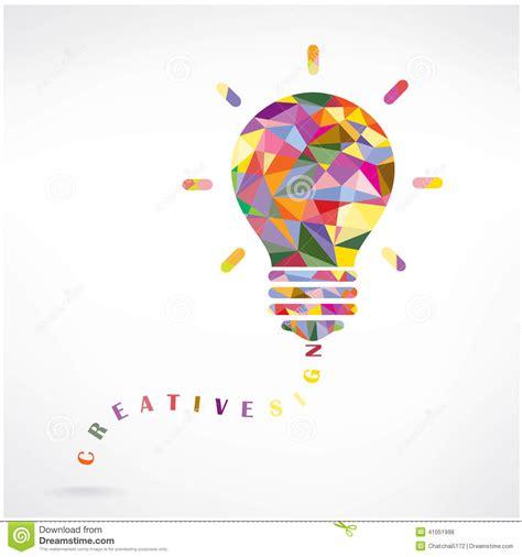 background knowledge design creative light bulb idea concept background design stock