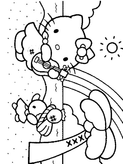 hello kitty tea party coloring pages hellokittycrafts