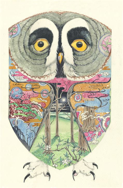 pattern illustration artist daniel mackie art deco and ukiyo e influenced animal