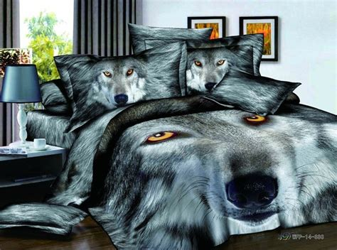 Wolf Bedspreads Comforters Wolf Bedding Set Promotion Online Shopping For Promotional