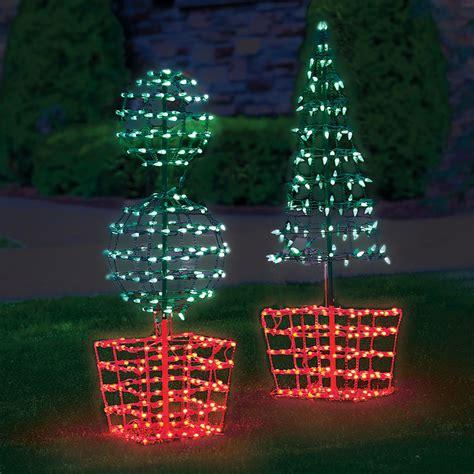 desktop twinkling tree decoration decor illuminated twinkling 62 quot orb topiary tree set of 2
