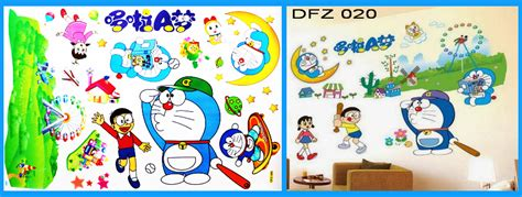 Wallpaper Doraemon Wallpapersticker Doraemon Stiker Doraemon jual wall sticker wallsticker wallpaper stiker