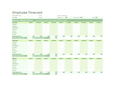 excel timecard template employee timecard excel template employee