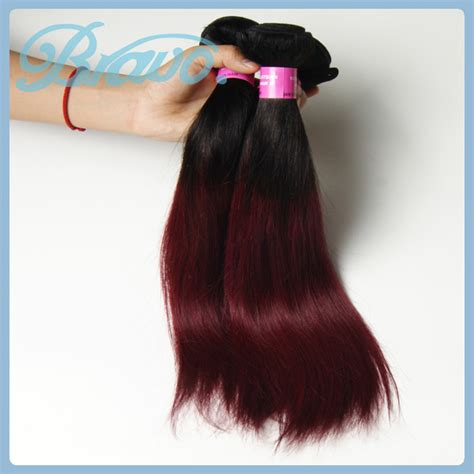 chatters hair extensions bravo hair ombre hair weave 1b burgundy ombre
