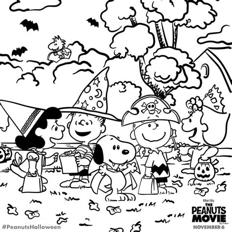 charlie brown halloween printable coloring pages 222 best images about snoopy coloring pages on pinterest