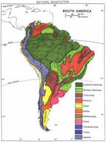 south america vegetation map south american vegetation america